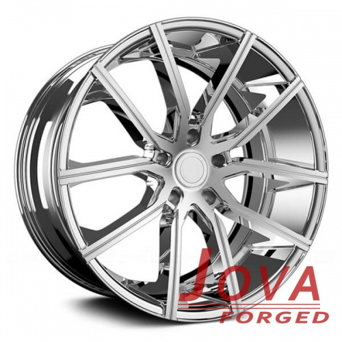 Aftermarket chrome rims for racing car