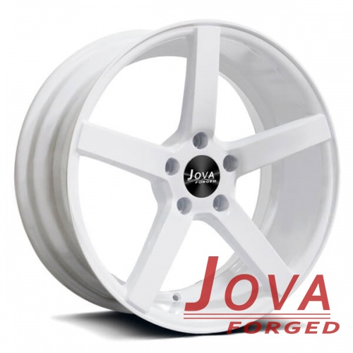 white mustang rims wheels 5 lug concave