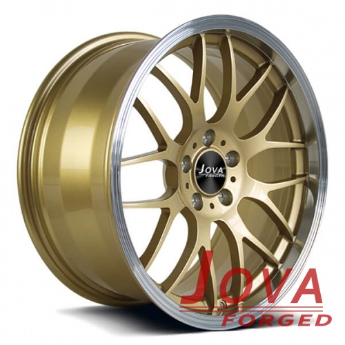 Deep lip wheels for cars bronze polished lip