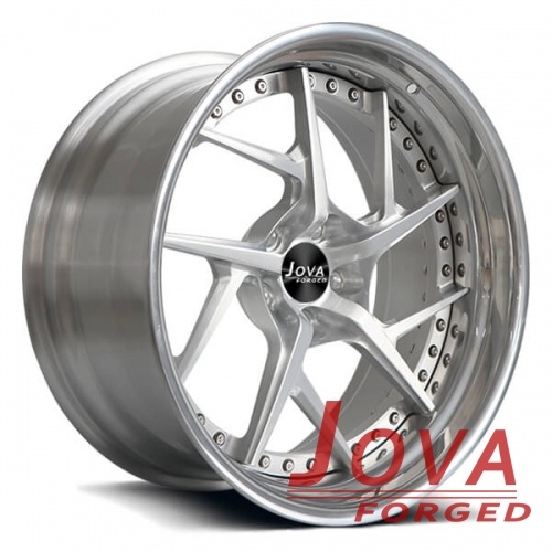 aluminum rims polished alloy wheels 2-piece forged