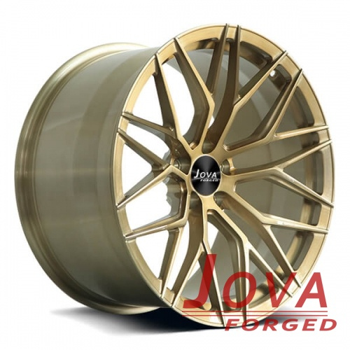 custom mustang wheels rims concave brushed finish