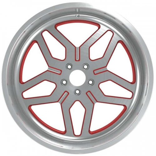 off road racing wheels silver brushed 4x4 rims