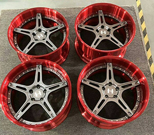 New 2 piece forged car wheels