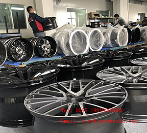 Forged car wheels in our factory